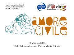 La locandina di Amore civile