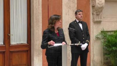 Il presidente del senato elisabetta casellati presenzia for Senato della repubblica indirizzo